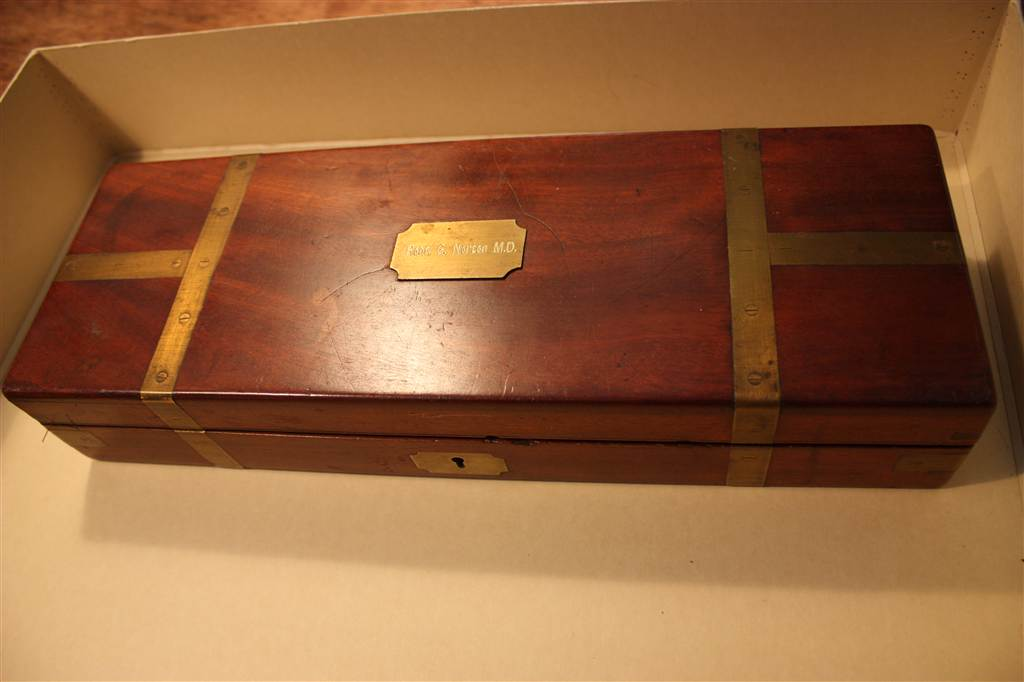 Surgical Tool Box owned by Dr. Robert Godfrey Norton.